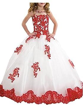 KekeHouse® Bambina Fiore Abiti Per sposa Principessa Abito da Comunione da spettacolo Ragazze Vestito Festa da...