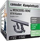 Rameder Komplettsatz, Anhängerkupplung abnehmbar + 13pol Elektrik für Mercedes-Benz VITO Kasten (154220-13076-2)