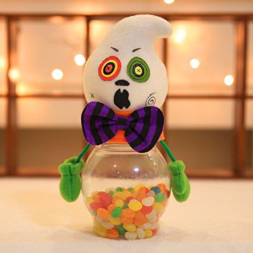 iTemer Halloween Dekoration transparenter Süßigkeit Behälter Schokolade Lagerung Verzierung 22*10cm Schwarze Katze/ Kürbis/ Geist/ Zombie (Katze Halloween-verzierung Schwarze)