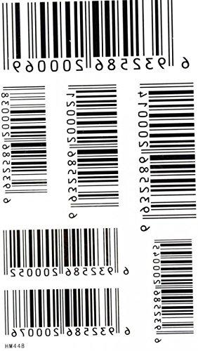 GRASHINE Tattoo-Aufkleber wasserdicht und Schweiß der Männer und Frauen Mode sexy Tattoo-Barcodes
