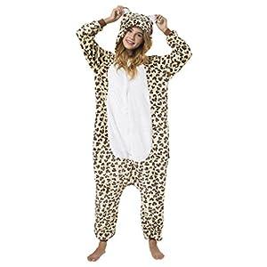 Katara-(10+ Modelos Kigurumi Pijamas Disfraz Animal Halloween Adultos, Color leopardo, Talla 155-165cm (1744)