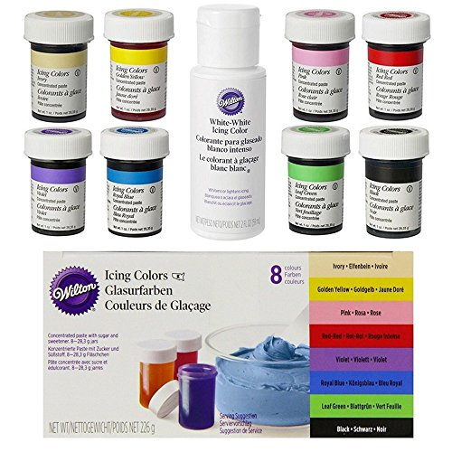 Set de 8 colorantes + Blanco - Wilton