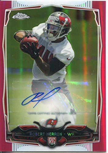 chrome-football-2014-rose-autographe-carte-robert-herron