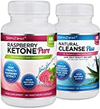 Raspberry Ketone and Colon Cleanse Detox Combo - UK Manufactured High Quality Supplement - Vegetarian & Vegan friendly - Top Selling Raspberry Ketone - Amazing Value Order Today from a Well Known Trusted Brand (60x Raspberry Ketone Pure + 60x Colon Cleanse Detox)