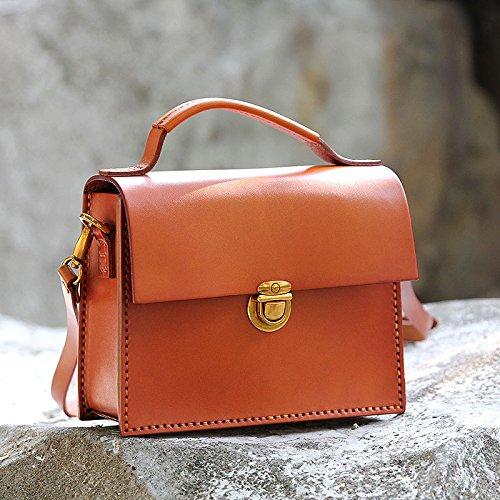 Nouveau cuir vintage fait main petit sac à main bandoulière sac en bandoulière sac Chocolate