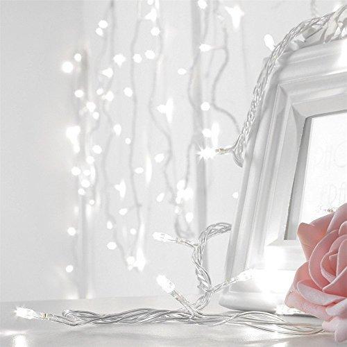 Strisce LED, AGPtek 10M 100 LED fata stringa luce 8 modello collegabile illuminazione per matrimonio cerimonia Christmas Party-bianco - Led Si Illumina Di Nozze