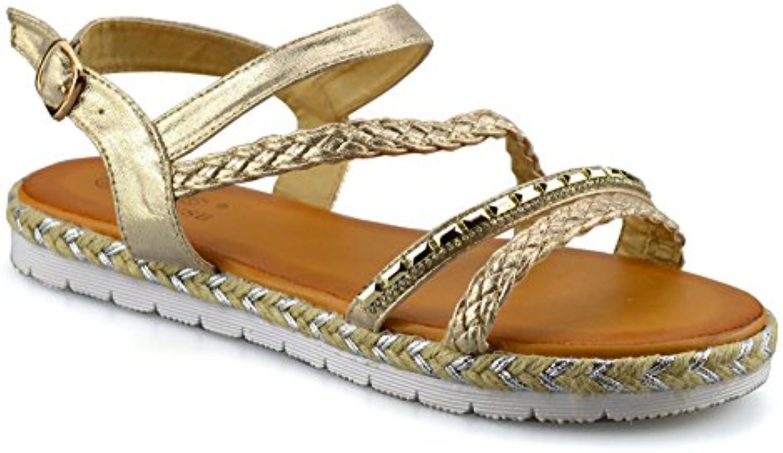 fd9c6633a Clowse nhta-27145 Ladies Womens Low Wedge Sandals Heel Parent Ankle Strap  Espadrilles Summer Sandals Shoes B07BSM7VKN Parent 24ed9a0 -  www.stechguru365.com