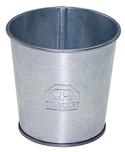 Brosse à dents Mug, EN MÉTAL galvanisé, gris ou argent, Zinc, 10 cm de diamètre