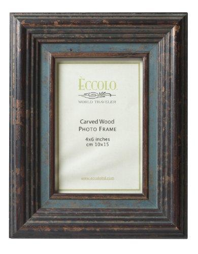 ECCOLO Fashion Antik Holz geschnitzt Rahmen, Holz, Casselle, 5 by 7-Inch - Antik-look Holz Geschnitzt