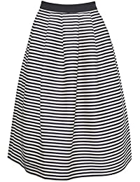 Great Plains - Bella Breton Stripe Skirt, True Navy/Seasalt, 8 (34)
