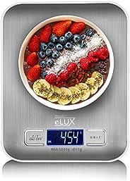 Project eLUX Digital Kitchen Food Weighing Scale, Stainless Steel Back-lit LCD-Display Slim Design AAA Batteri