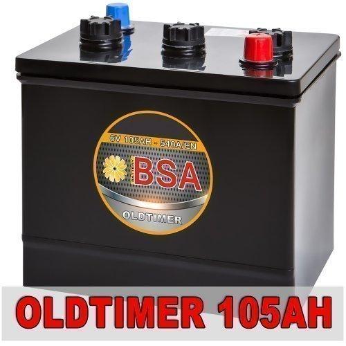 BSA 6V 105Ah Oldtimer Batterie Autobatterie für Oldtimer 6 Volt ersetzt 84Ah 96Ah 102Ah