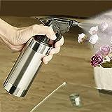 halonzhor 280ml Edelstahl Hand Druck Wasser Spritze Flaschen Flaschen