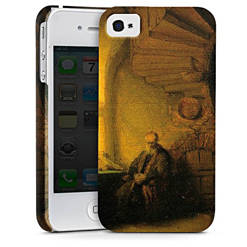 Apple iPhone X Silikon Hülle Case Schutzhülle Rembrandt van Rijn Gemälde Philosopher - in Meditation Premium Case glänzend