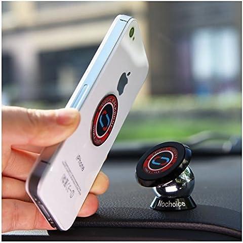 Nochoice® magnético para coche Soporte de smartphone para iPhone 6 / 6 Plus /se / 5 / 5S / 5C / 4 / 4S Samsung Galaxy S6 / S5 / S4 / Note 4 / 3 HTC Nexus LG G3 y dispositivo
