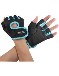 Gants sport halterophilie aviron Boxe Fitness Bodybuilding Gym Velo Cyclisme VTT Sport Gloves fitness musculation XL noir bleu