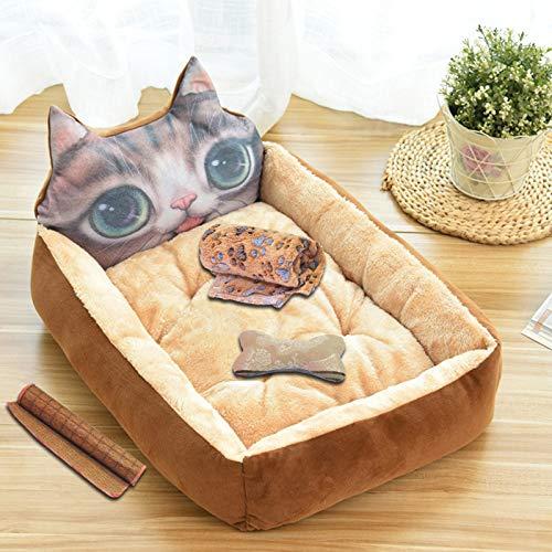 MYYXGS Haustier Mat Zwinger Haustier Katze Bett Sofa Katze Sofa Flauschige Hundebett 50Cm