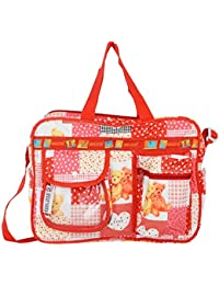 Shopigator Mother's Diaper Bag & Kids Luggage Bag Baby Print Imported Fabric Cartoon Print, Teddy Bear Print (...