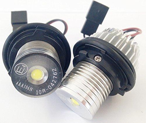 Preisvergleich Produktbild Angel Eyes 5Watt Leuchten Standlicht Xenon Halo-Ring Standlichtringe LED Brenner 5Watt CANBUS,  mit E4 - ZUGELASSEN!!