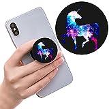 Ausziehbarer Sockel für Handy und Griff für Smartphones und Tablets - Glitzer Einhorn Bunt