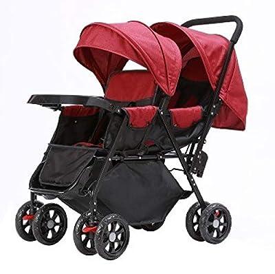 Defect Cochecitos para bebés Gemelos Sentados en la Parte Delantera y Trasera se Pueden sentar de Forma Plana y Doble.
