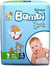 Sanita Bambi Baby Diapers Regular Pack Size 2, Small, 3-6 KG, 19 Count