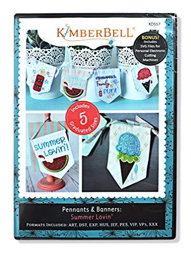 kimberbell Maschine Stickerei CD: Pennants & Banner: Summer Lovin ' -