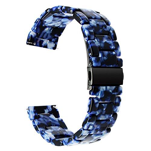 TRUMiRR Per Samsung Gear S3 Cinturino, Cinturino da polso con cinturino in acciaio inossidabile con cinturino e fibbia a scatto per Gear 2 Neo, Moto 360 2 46mm Men, Pebble Time, LG G, Vector,Amazfit