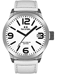 TW Steel Marc Coblen Edition mit Lederband 50 MM White/White TWMC43
