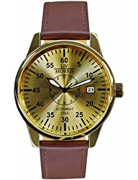 LIV MORRIS LIV MORRIS HANSE 1966 MAGDEBURG 4260195920408 - Reloj para hombres, correa de cuero color marrón