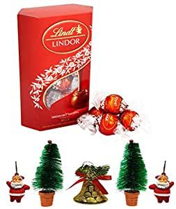 Lindt Lindor Exotic Milk Truffles Chocolate Gift Box 200 Grams Pack Combined with X'MAS GOODIES