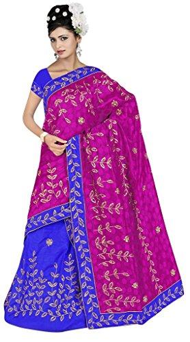 "Assamese Mekhela Chadar ""KAMINI""(PINK-BLUE)"