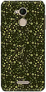 The Racoon Lean printed designer hard back mobile phone case cover for Coolpad Note 5. (leafy flor)