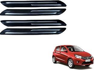 Kozdiko Double Chrome Bumper Protector Black Set of 4 Pcs for Maruti Suzuki Celerio