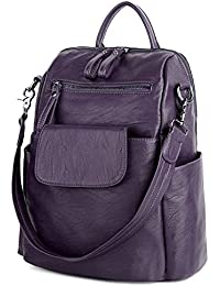 c3a1fcdc82 UTO Women Backpack 3 Way PU Leather Ladies Girls Rucksack Shoulder Travel  School Bags