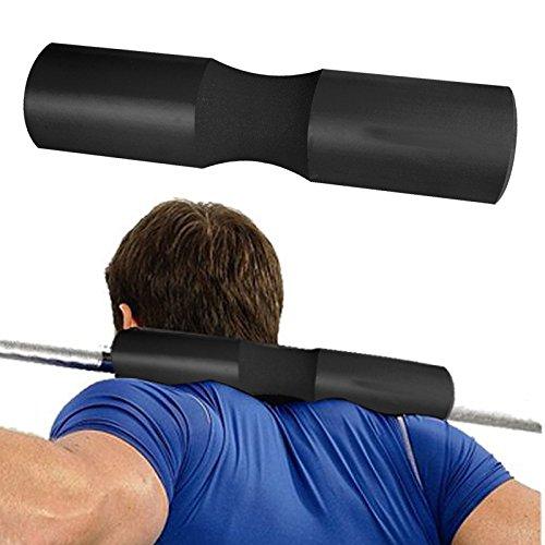 Bar-schaum-pad (Squat Bar Pad, KIROLAK Barbell Kissen Nacken und Schulter Schutz Pad Unterstützung Übung Barbell Pad für Hip Thrusts, Squats und Ausfallschritte, Gewichtheben - Schwarz)