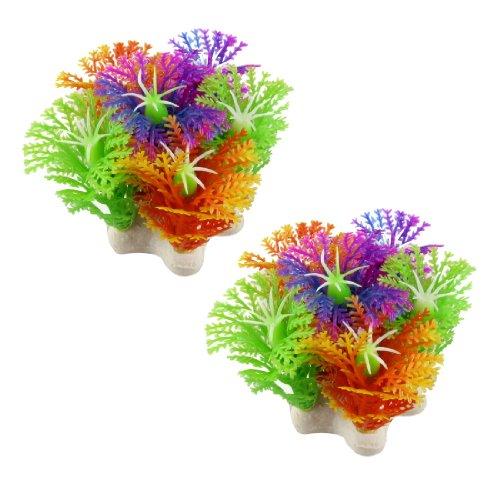 uxcell Kunststoffpflanze für Aquarien, 5,3 cm, 2 Stück
