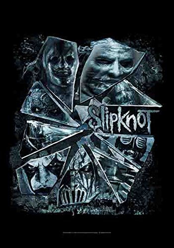 SLIPKNOT Bandiera - Broken Glass - Poster Bandiera 100% poliestere dimensioni 75 x 110 cm