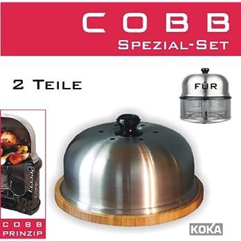 Cobb Grill Servierplatte Mit Deckel Schneidebrett Bambus Inkl Original Deckel