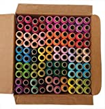 #5: 100 Thread Spools (50 Shades - Each 2 in Quantity) Assorted Set - Spun Polyester Thread - Each Spool 300 Meters - Pmw