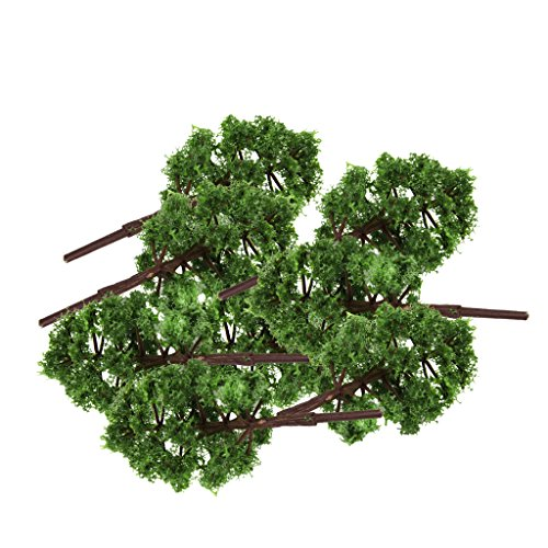 20 Stk. Kunststoff Modell Baum Zug Eisenbahn Landschaft 1: 150 Tiefgrünen