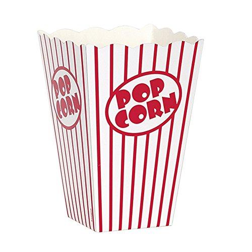 Unique Party Popcorn-Schachteln, 10 Stück (One Size) (Weiß/Rot)