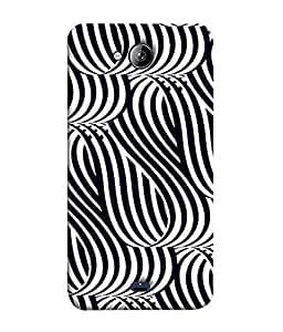 PrintVisa Designer Back Case Cover for Micromax Unite 3 Q372 :: Micromax Q372 Unite 3 (Black is Beatiful But White is wonderful)