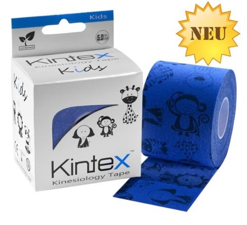 Kintex Kinesiologie Tape Kids 5cm x 5m speziell für Kinder in Blau 2,18€/m