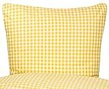 PremiumShop321 Bettwäsche Serie Züchen Landhaus Karo Reißverschluss 95° waschbar -weiß/gelb-Kissenbezug 40x80