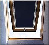 Purovi ® Thermo Protection Solaire pour fenêtres de Toit | Protection Thermique pour l'intérieur | sans percer sans Collage | Velux + Roto | Taille choisie: VELUX MK04-60 x 78cm...
