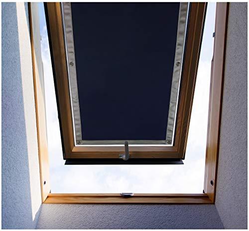 Purovi Thermo Sonnenschutz für Dachfenster | Hitzeschutz für Innen | ohne Bohren ohne kleben | große Auswahl für Velux + Roto Fenster | Ausgewählte Größe: Velux UK08 – 116 x 120cm