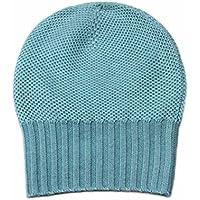 Damen Kaschmir Mütze, 100% Cashmere Mütze Hut Damen, Gestrickte Luxus Mongolische Kaschmir Mütze Hellgrün