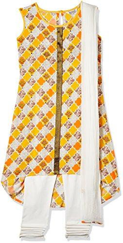 Karigari Girl's A-Line Regular Fit Cotton Salwar Suit Set (273395722 _Assorted_13Y)