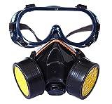 Profi Atemschutzmaske Staubschutzmaske Schutz Halbmaske mit 2 Filtern für Farbspritz